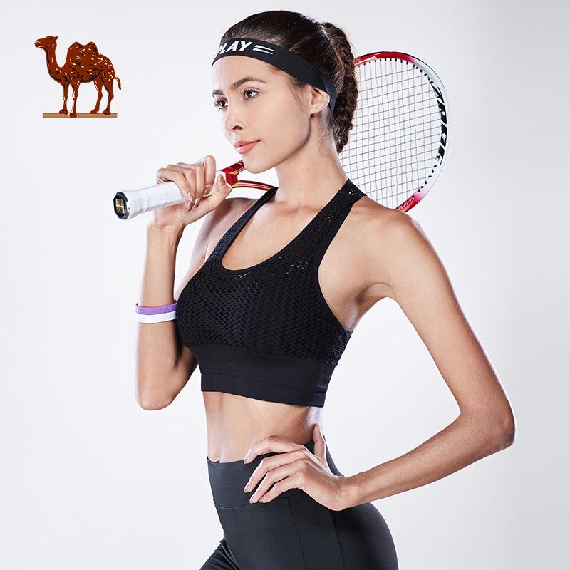 骆驼无钢托文胸空气垫内衣全罩杯跑步固定双肩带防震无钢圈女运动