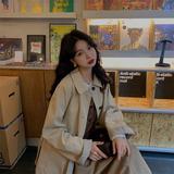 范智乔 风衣女中长款韩版宽松过膝2021新款春秋季气质小个子外套
