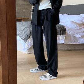 ONEMAX夏季20新/日系宽松垂感西裤潮男女韩版文艺休闲直筒西装裤图片