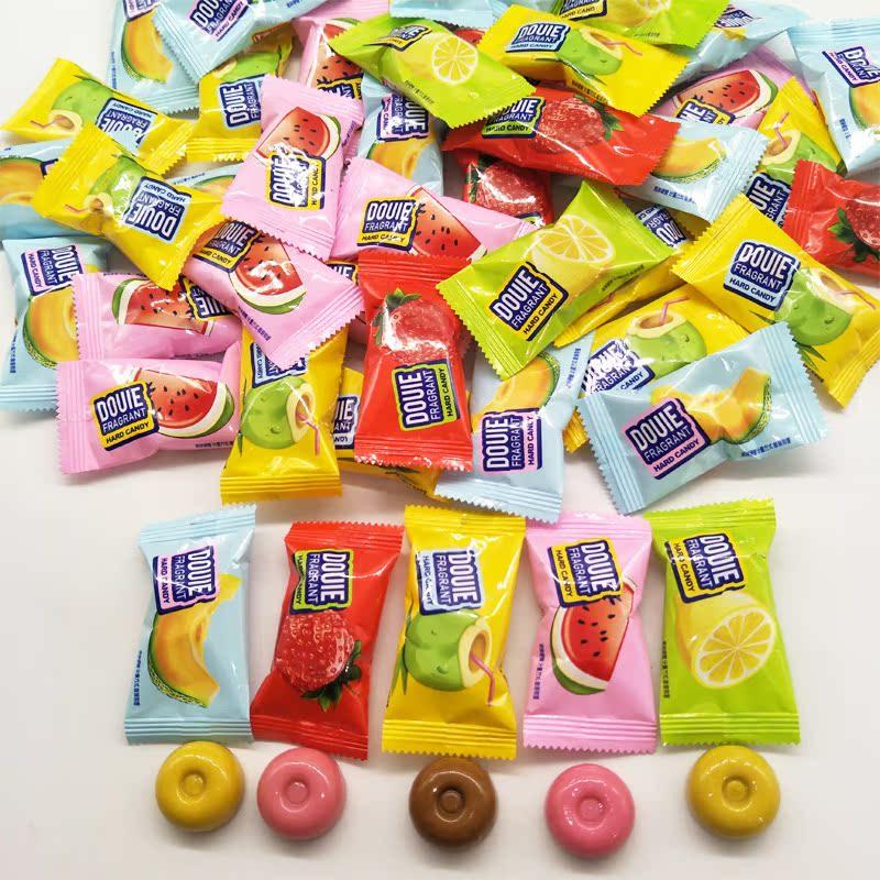 果多滋奶香水果硬糖散装结婚喜糖 休闲零食500克包邮约75颗左右