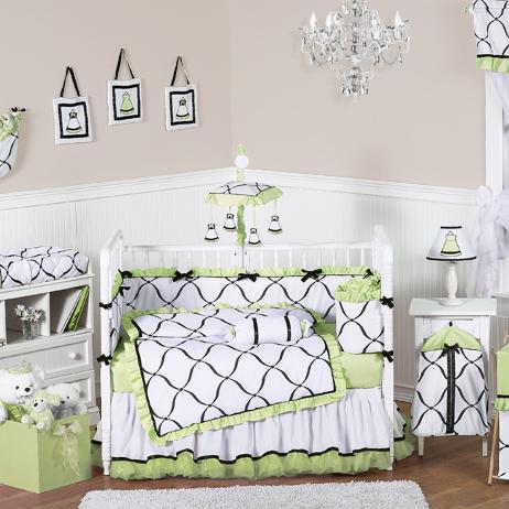 出口欧洲纯棉婴儿床上用品八件套全棉宝宝床笠床围被子秋冬四季