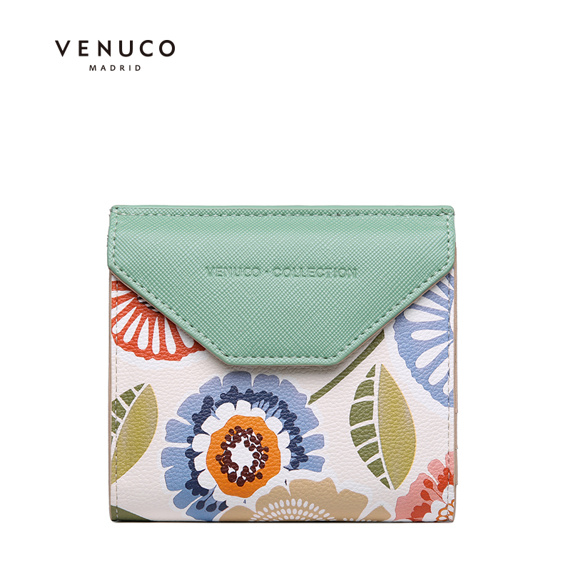 Wallet womens short 2020 new two fold ultra thin Mini Wallet folding cute small zero wallet small bag