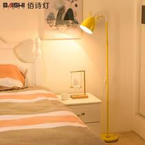 落地灯客厅创意时尚豪华简约现代卧室北欧实木三脚落地台灯具遥控