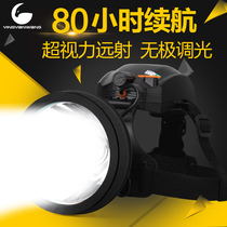 Eagle Eye Wang Suliang Strong light long shot led outdoor headlamp charging night fishing head wearing lithium-ion flashlight Waterproof