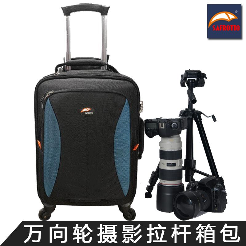 賽富図多機能撮影用レバー箱の一眼レフカメラのダブルショルダーバッグの大容量なユニバーサルホイールの盗難防止ケースです。