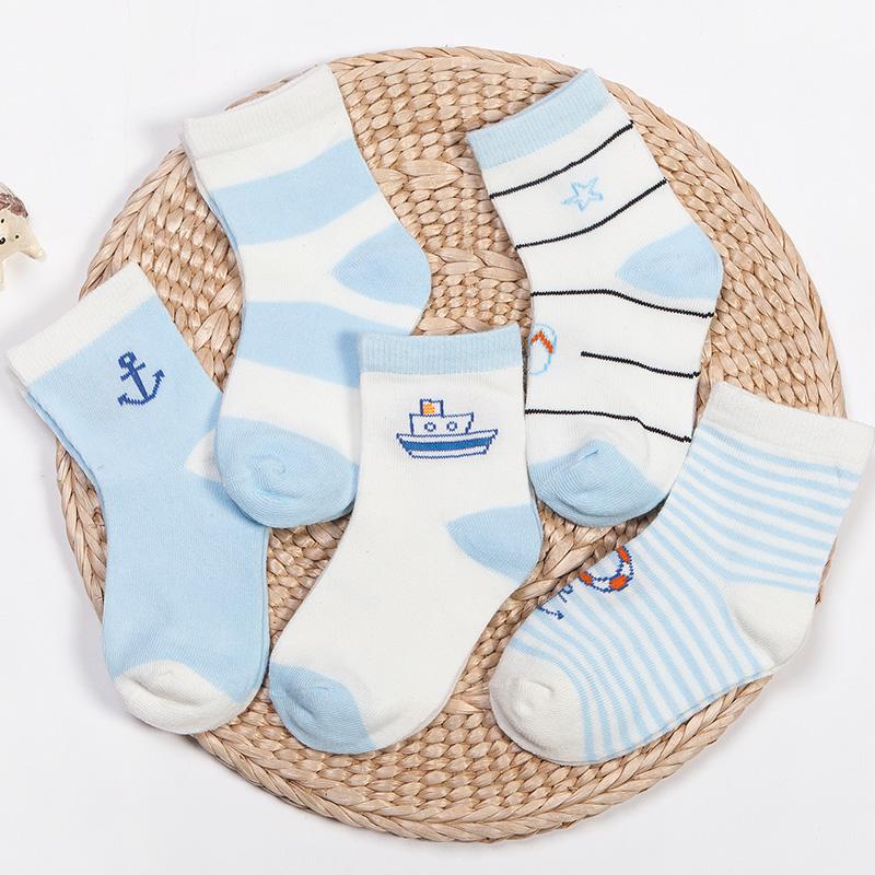 兒童襪子春秋薄款 寶寶1~3~5~7歲透氣中筒卡通棉襪 男孩女孩童襪