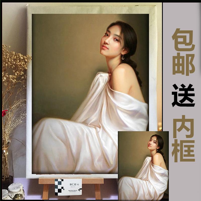 肖像油画定制照片真纯手绘抽象挂画券后100.00元