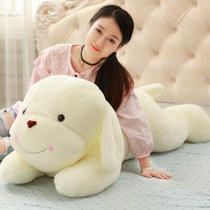 趴趴狗公仔白色小狗狗娃娃毛绒玩具布偶陪你睡觉抱枕可爱床上玩偶