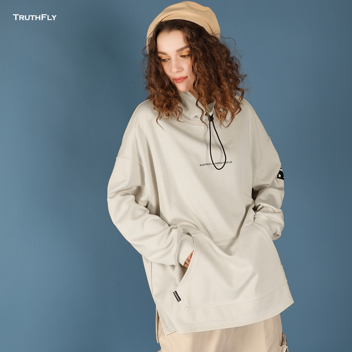 2019新款潮春季自制嘻哈高领卫衣128.00元包邮