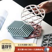 半房耐高温硅胶隔热餐垫镂空垫子防滑防烫碗盘垫杯垫餐桌加厚锅垫