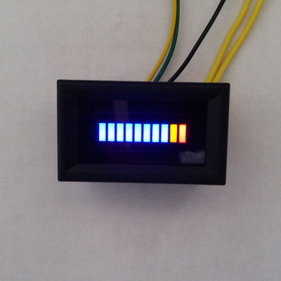 Red Sun Electronics Motorcycle Modified Meter Adjustable LED Fuel Gauge/Blue Display With Shell 12V