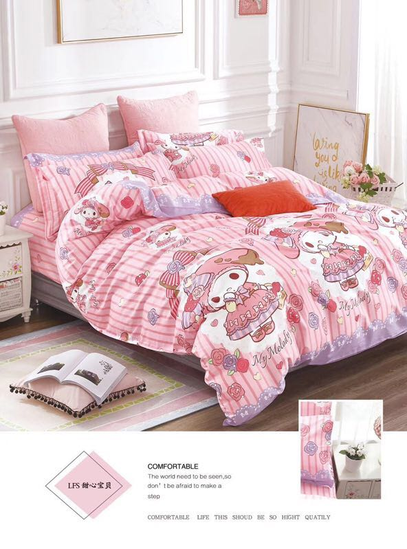 Parcel post cotton 1 meter bed 3-piece set of bedding for children and students 4-piece set of bedding for maclardy