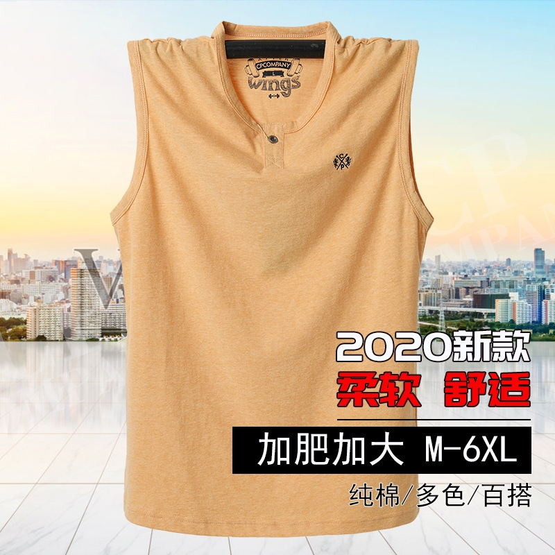 Fat plus plus size mens sweat vest summer modal super large mens loose Sweatshirt vest pure cotton