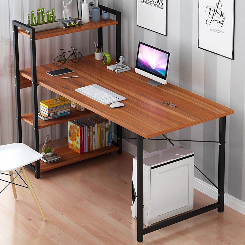 电脑台式桌家用小户型电脑桌简约现代学生写字桌卧室书柜书桌一体(非品牌)