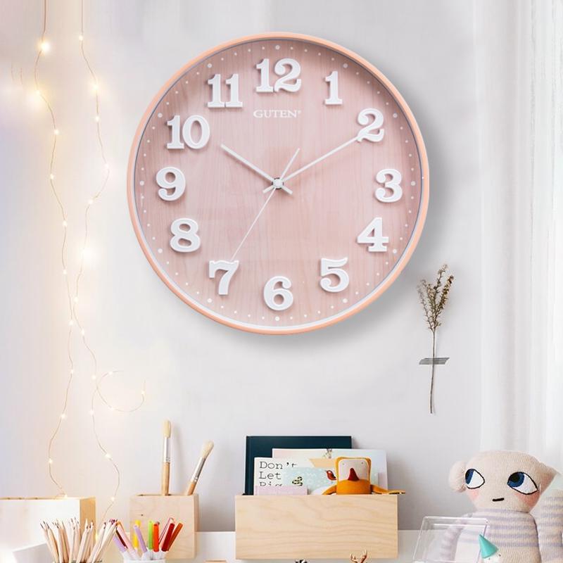 北欧挂钟静音客厅时尚创意石英钟现代简约卧室个性时钟家用石英钟
