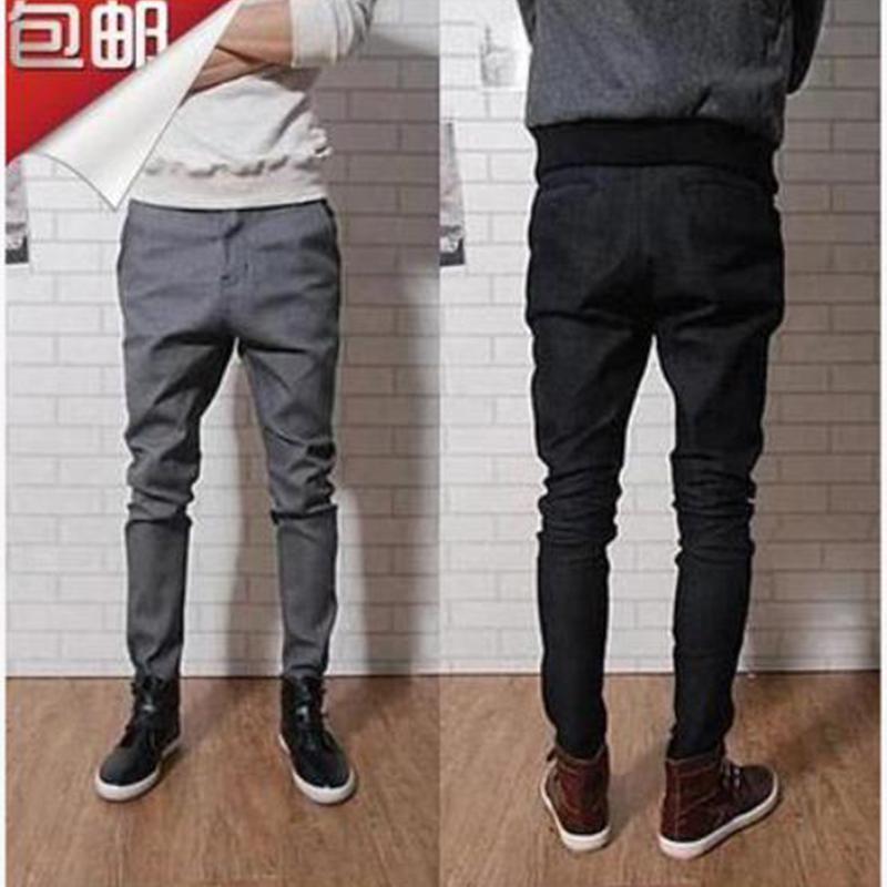 2020韓版夏季長ズボン男性カジュアルパンツ、レギンス、テーパー、ズボン、ストレッチ、9分のズボン