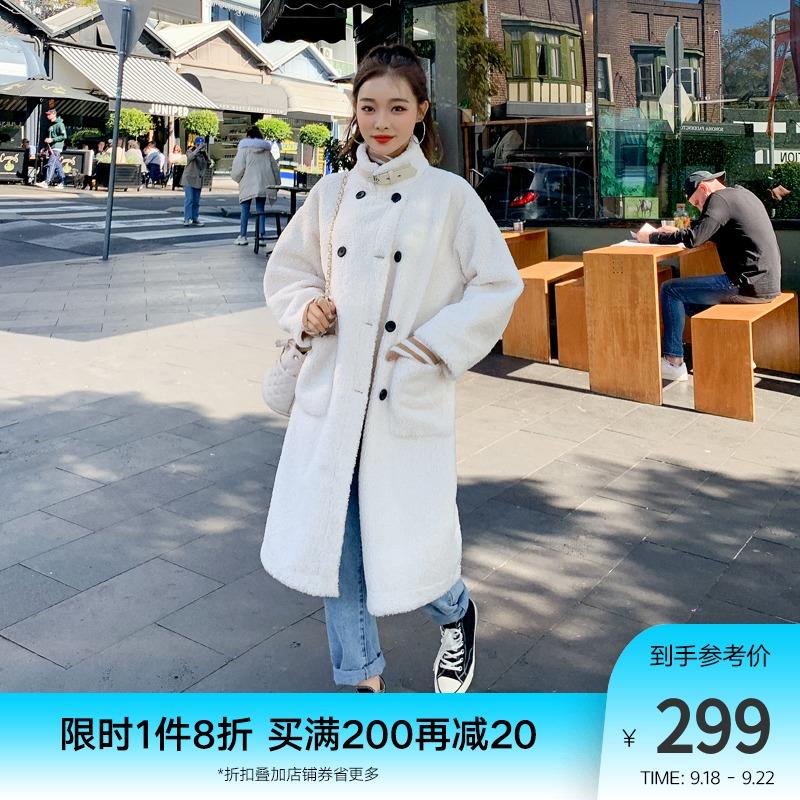 韩都衣舍2021春装新款韩版棉衣棉服