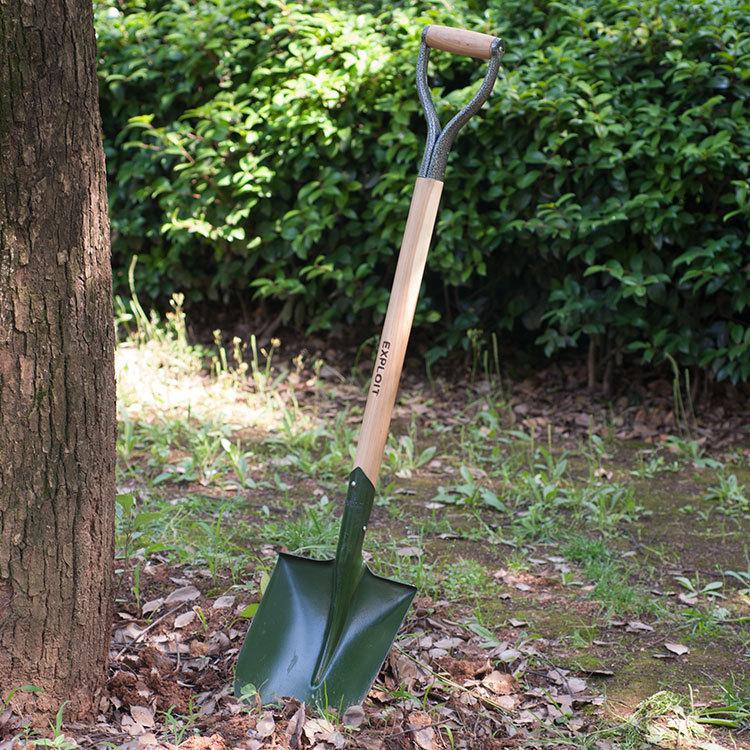Открыть лопату с деревянной ручкой Наконечник лопаты вокруг лопаты Лопата для железа Лопата для лопаты Лопата снежного снега Инструмент садового дерева 222207