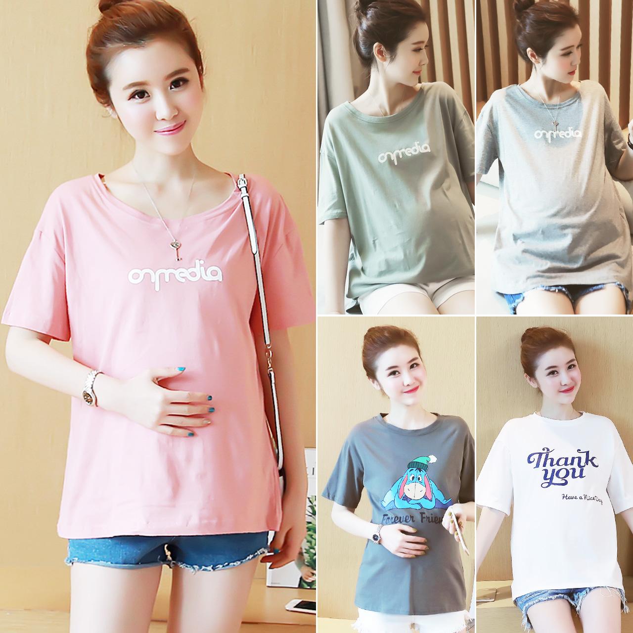 11月30日最新优惠孕妇装春夏装孕妇短款纯棉短袖t恤