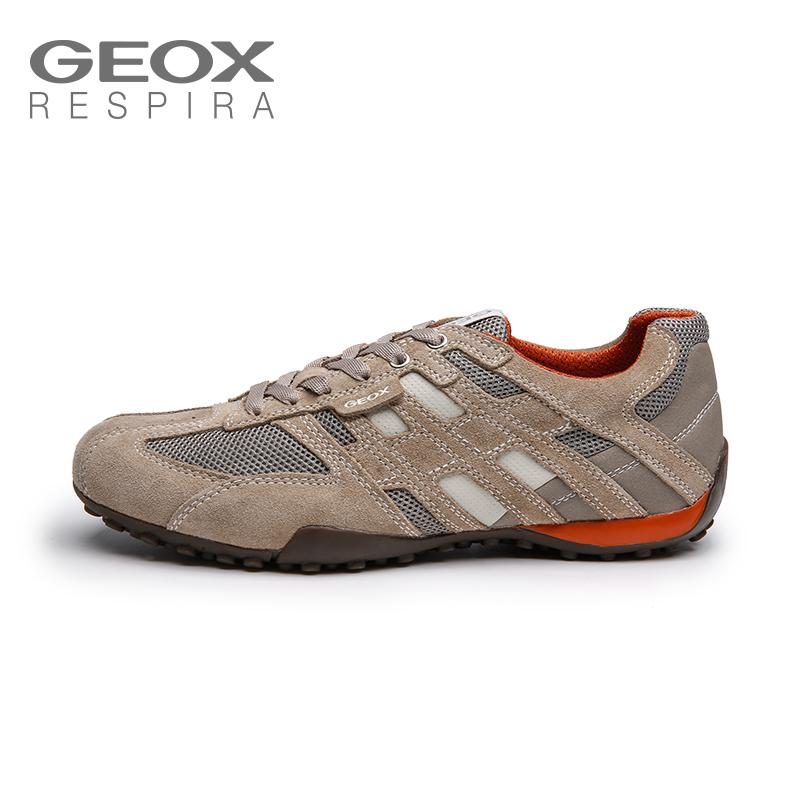 GEOX/ здоровый музыка ученый мода кожа сращивание спортивной обуви мужчина случайный воздухопроницаемый обувной мужчина бег обувной U4207K