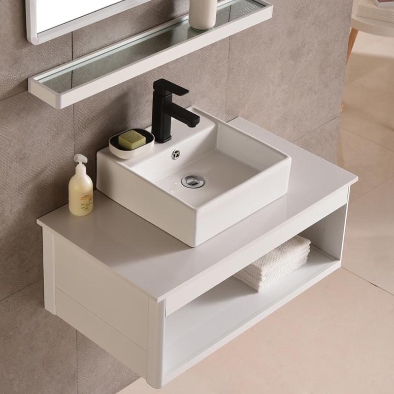 大理石洗手台面盆陶瓷洗漱池脸盆太空铝浴室柜小户型卫生间洗手盆10月12日最新优惠