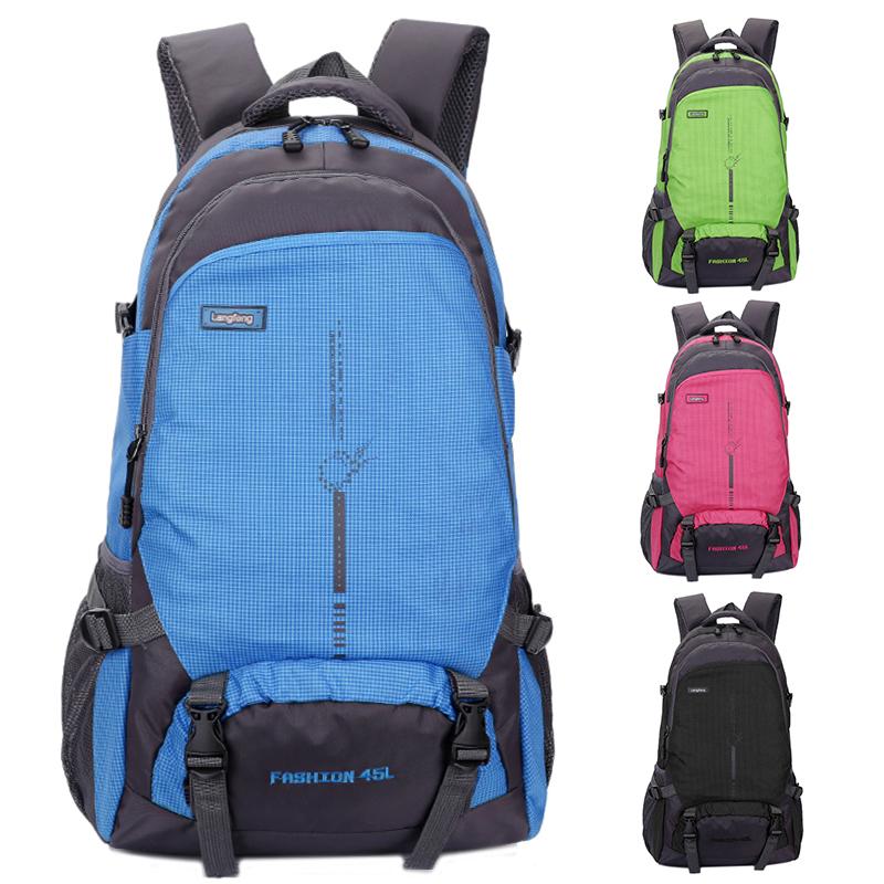 新款户外超轻大容量背包25L45L旅行防水登山包女运动书包双肩包男