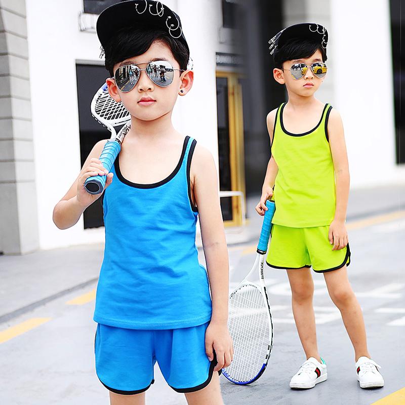 贝可欣休闲棉儿童孩子衣服卫衣大童男外出实拍有模特套装6227N