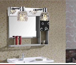 简约LED镜前灯浴室卫生间镜柜灯水晶壁灯厕所化妆不锈钢镜前灯