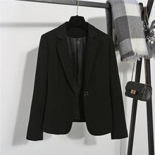 2020春秋韩国chic黑色小西装外套女短款修身长袖休闲职业西服上衣