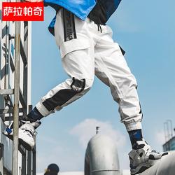 萨拉帕奇束脚裤男2019春季新款青年运动休闲裤韩版潮流工装裤男