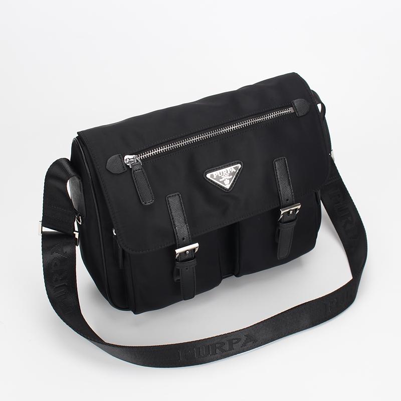 Genuine purpa / prapai new mens one shoulder waterproof nylon leisure messenger large capacity multifunctional Backpack
