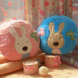 Sugar rabbit dual lumbar pillow cushion children nap blanket air conditioning blanket blankets Vehicle Electronics couple female Tanabata gifts