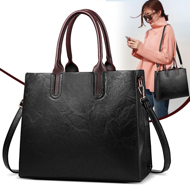 女包2018新款手提包大包时尚潮流简约单肩斜挎公文包中年女士包包