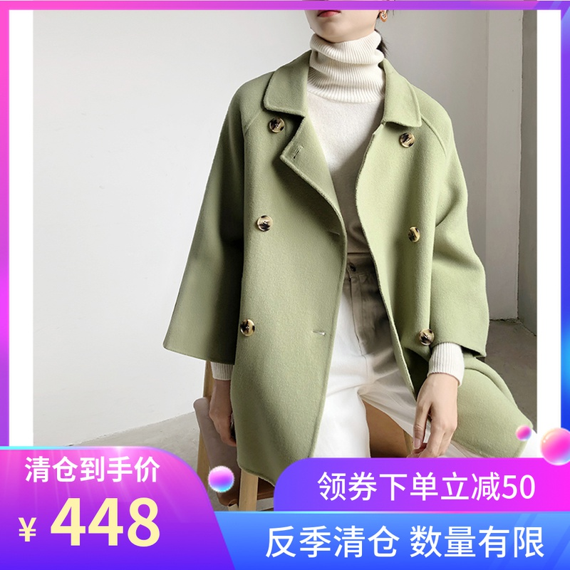 Double sided cashmere coat womens new 2019 Korean version of Cape small double faced woolen fur coat short