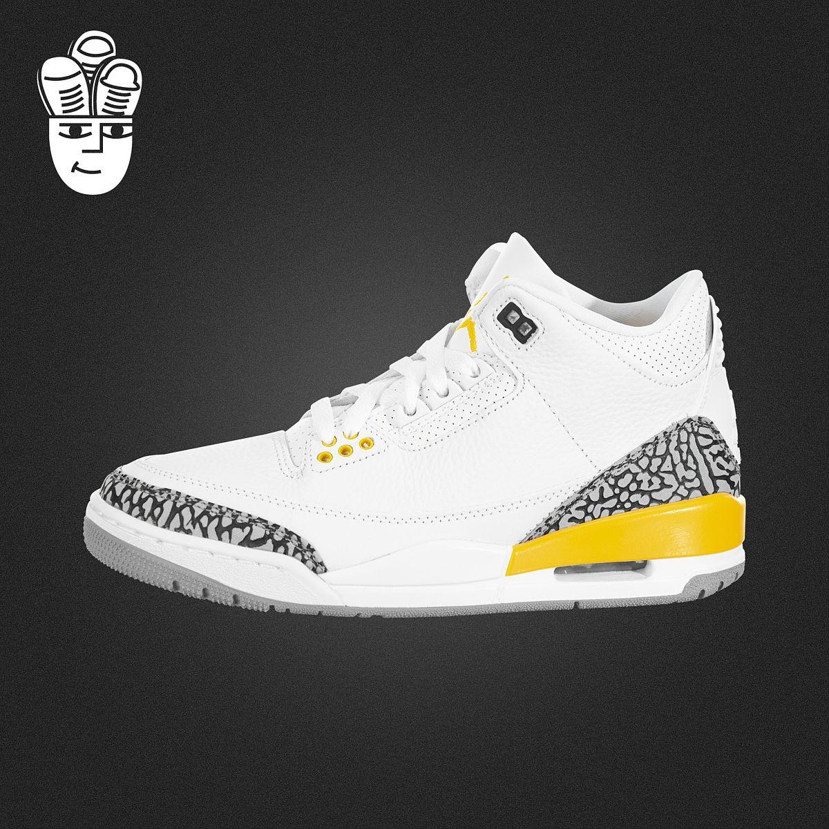 Air Jordan 3 Retro Laser Orange AJ3女鞋 复刻篮球鞋 湖人