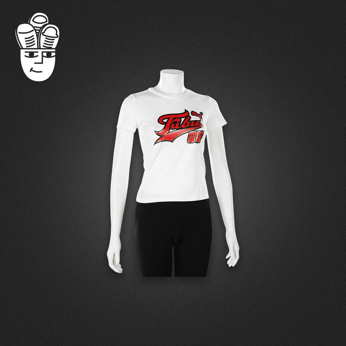 Puma x FUBU Graphic 彪�R嘻哈50周年�名T恤衫 �\�有蓍e短袖女