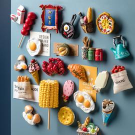 北歐ins立體3d冰箱貼磁貼個性創意裝飾diy可愛卡通磁力貼畫貼紙圖片