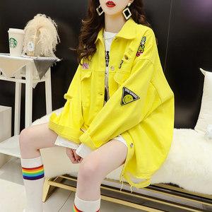网红炸街牛仔外套女春秋韩版宽松ins潮洋气减龄上衣春装2021新款