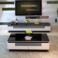 Yizhi закаленного стекла телевизор кабинет сейчас поколение Простая шкафная мебель для гостиной комплект