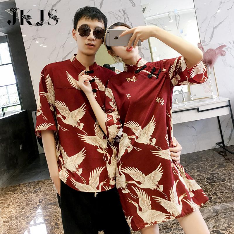 新式旗袍改良短袖连衣裙夏季年轻款少女中国风时尚唐装复古风女装
