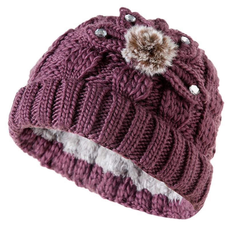 秋冬中老年毛线帽子女冬加绒保暖老人奶奶帽婆婆老太太60-70岁80