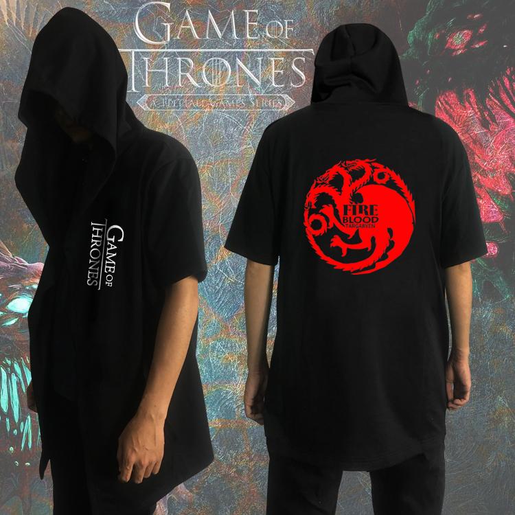 冰与火之歌短袖衣服周边权力的游戏夏季长款披风男纯棉开衫暗黑风