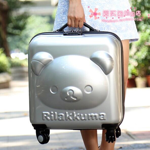 d83111ae2 Children's luggage trolley Rilakkuma easily bear small suitcase caster sub  18-inch female boy