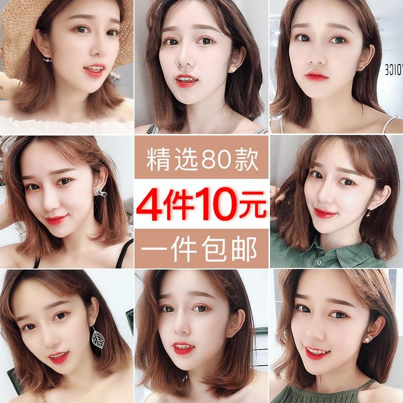 2019新款潮网红设计感耳钉小众女气质韩国个性简约百搭小耳饰耳环