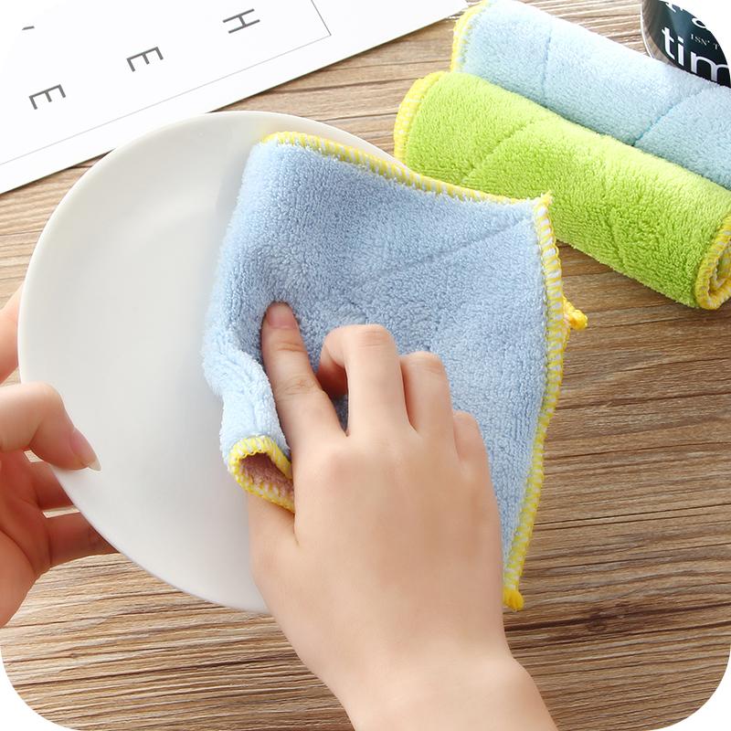 厨房超细竹纤维不掉毛超吸水清洁布抹布擦手巾不沾油洗碗布洗碗巾