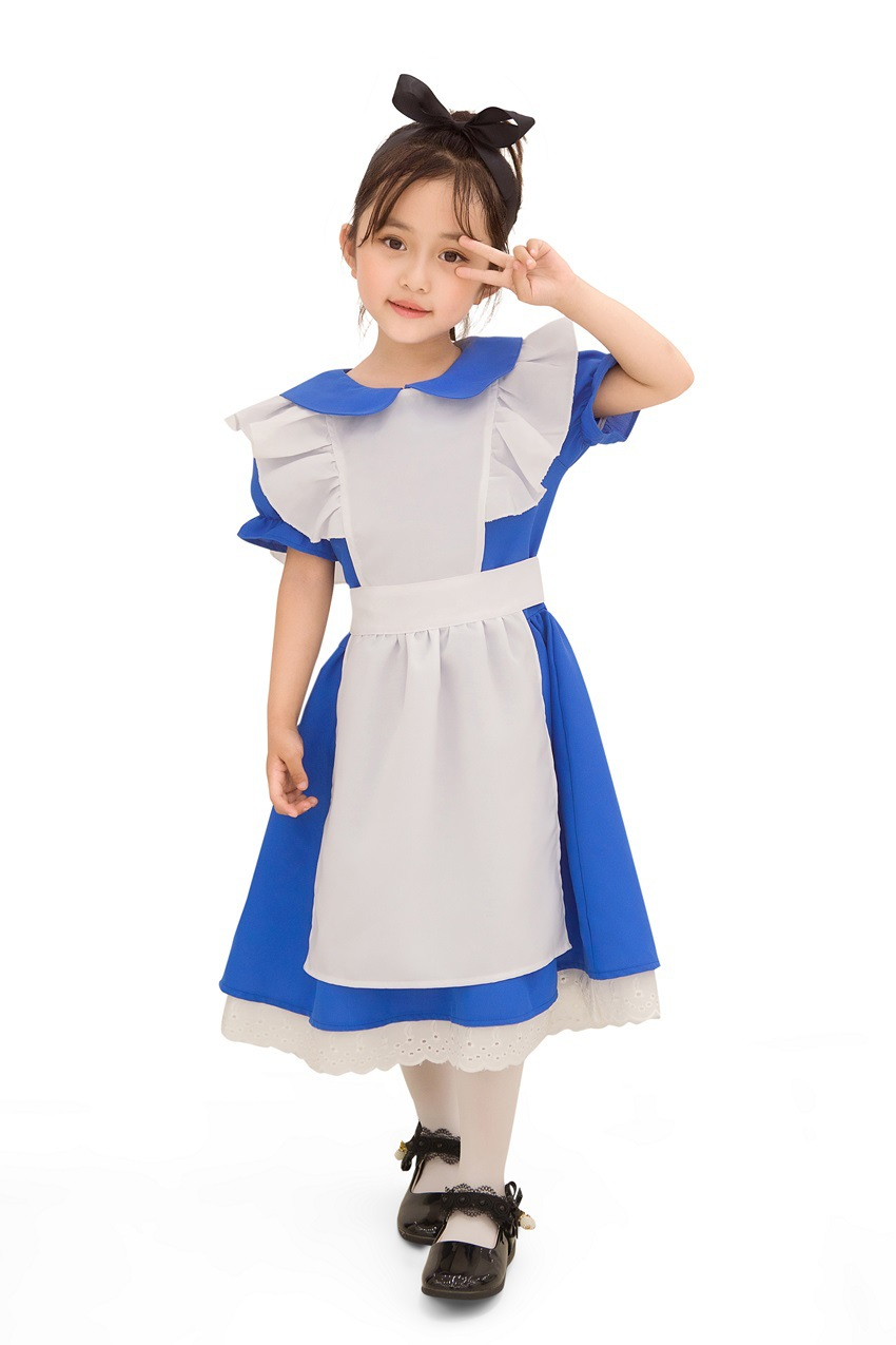 S-XL cute Maid Costume role play Maid Costume Halloween Costume childrens day kindergarten girls performance Costume