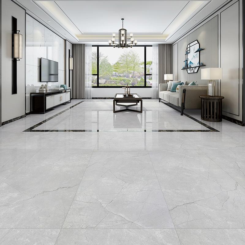 【25平方客厅套餐】东鹏瓷砖客厅灰色地砖600x1200瓷砖地板砖防滑 Изображение 1