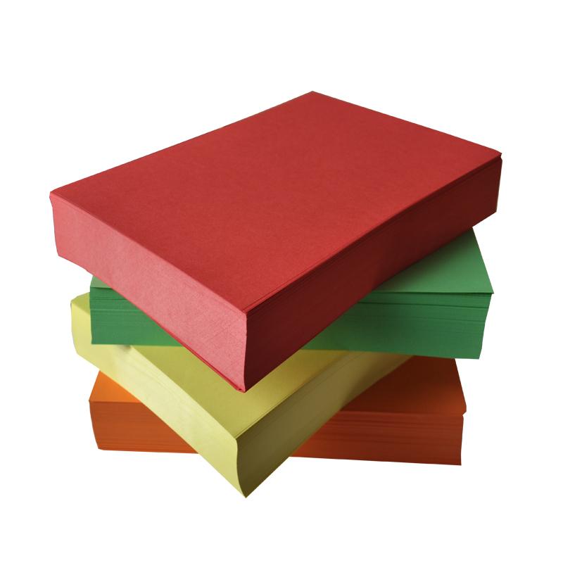 亞達 彩色複印紙 折紙A4打印用 彩色紙 彩紙 黃藍綠粉色500張