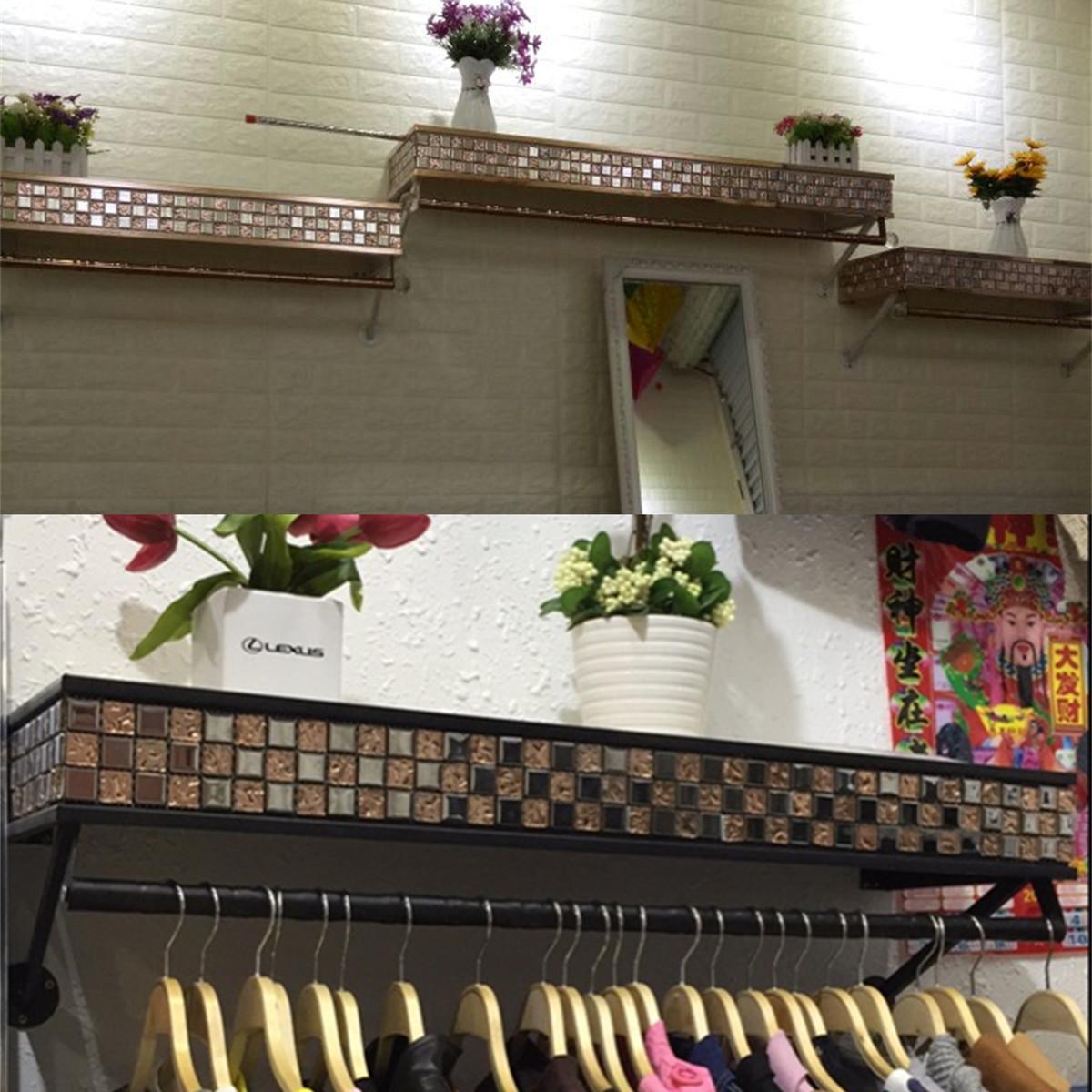 58.00元包邮高档服装货架展示架上墙正挂侧挂壁挂服装店男女装衣架展示架复古