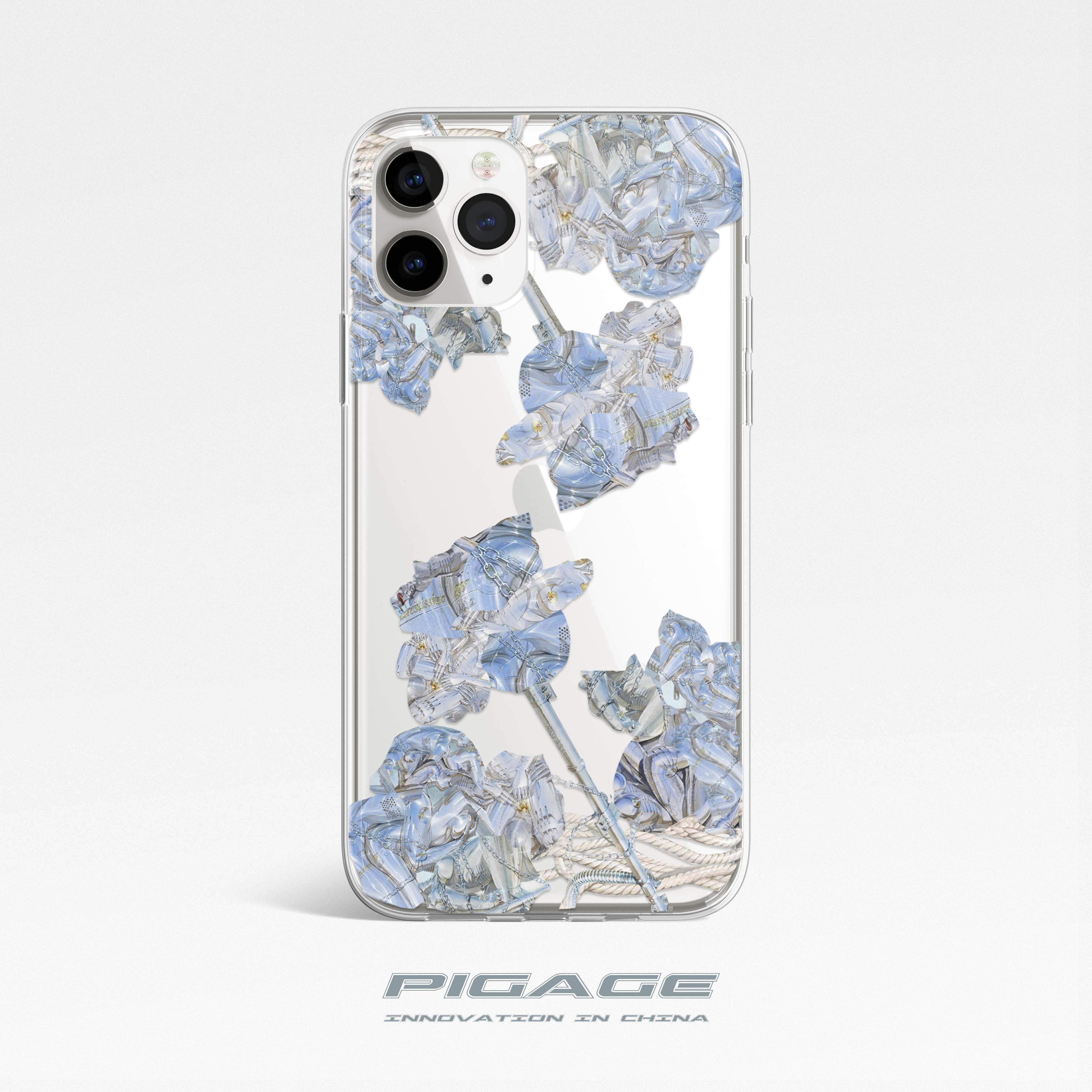 原创赛博玫瑰oppo iphone 11手机壳